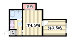 姫路駅徒歩圏内です♪♪ コンビニ目の前で立地良好です!! 402の間取