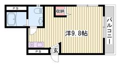 広いお部屋が魅力的です♪ 商業施設近隣充実です♪ 203の間取