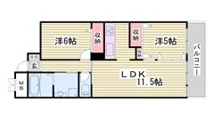 嬉しい都市ガス仕様で経済的!デザイナーズマンション☆姫路駅徒歩圏内です! 302の間取