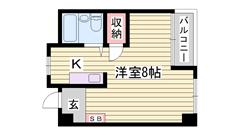 野里駅へ徒歩圏内☆ 日当たり良好 スーパーも近いです☆ 206の間取