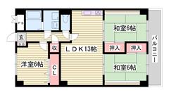 大容量の収納スペース 野里駅へ徒歩圏内 504の間取