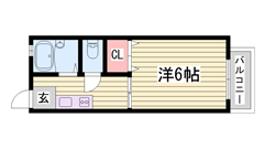 小型犬OK物件ですよ☆ 近くにコンビニが有ります!! 姫路駅まで徒歩圏内♪♪ 103の間取