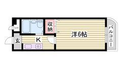 照明 冷暖房設備付 安心のオートロック 102の間取