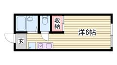 敷金0円☆ 嬉しい照明器具完備☆ ペットOK物件ですよ!! 101の間取