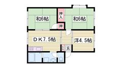 3DKでこのお家賃 閑静で住みよい立地です☆ 202の間取