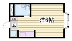 単身さんにオススメ☆バス・トイレ別ですよ(^O^) 203の間取