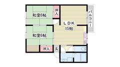 嬉しい駐車場1台込み☆ 安心のTV付インターホン☆ 人気の角部屋です! 2G1の間取
