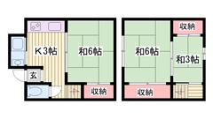 京口駅徒歩圏内!!都市ガスメゾネット!! 1の間取