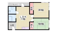 JR曽根駅まで徒歩2分♪エアコン完備♪ 301の間取