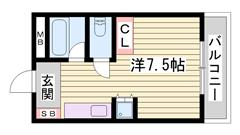 閑静な住宅街 駐車場1台込み 新品IHコンロ設置です 101の間取
