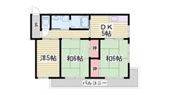 姫路にはなかなかない都市ガスマンション物件♪手柄駅徒歩4分です! 11-Cの間取