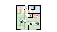 東加古川駅徒歩スグ!スーパーも近いです♪家賃お手頃! 201の間取