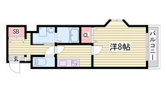 姫路駅近マンション☆新婚さんにもおすすめです♪オートロック付き★ 203の間取