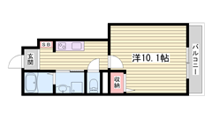 JR網干駅まで徒歩4分♪生活便利です! 102の間取