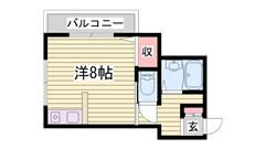 JR土山駅まで徒歩4分♪ 203の間取
