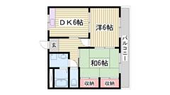 嬉しい駐車場1台込み☆ ファミリーさんにおすすめ!! 3-Dの間取