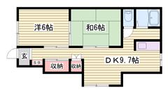 1階1戸、2階1戸の独立した居室です♪駐車場2台込みでこのお家賃です! 103の間取