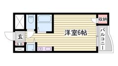 ミニ冷蔵庫付き 駅まで徒歩5分 礼金0円プランあり!! 103の間取