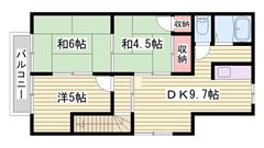 1階1戸、2階1戸の独立した居室です♪駐車場2台込みでこのお家賃です! 203の間取