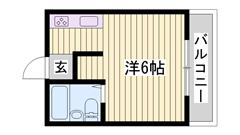 はりま勝原駅徒歩圏内☆ 単身さんにおすすめ物件ですよ♪♪ 203の間取