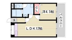 飾磨駅まで徒歩圏内 設備新設 スーパー・コンビニ近く生活便利です 203の間取
