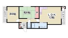 姫路駅徒歩圏内!オートロック付きマンションです♪ 201の間取