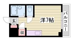 敷金・礼金0円キャンペーン中!!初期費用抑えたい単身者にオススメ☆ 105の間取