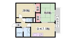 ペットOK物件ですよ☆ 近くにコンビニ・スーパー有りますよ!!  202の間取