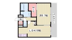 姫路駅前に分譲マンション誕生☆都市ガスで設備も最新☆ 511の間取