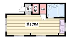 ペットOKマンション!!広々ワンルームです♪姫路駅も近い☆ Wの間取
