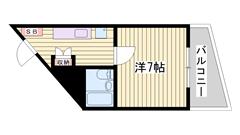 敷金・礼金0円キャンペーン中!!コンビに近くで便利です♪単身者向け☆ 206の間取