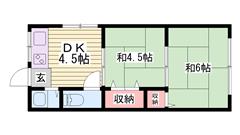 姫路駅徒歩圏内!! 収納もあります!!駐車場もあり!! 205の間取