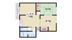 嬉しい駐車場1台込み☆ 安心のTV付インターホン☆ 人気の角部屋です! 1G5の間取
