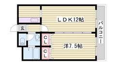イオン目の前で立地最強☆鉄骨マンションで遮音性・耐震性◎エレベーター付 306の間取