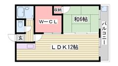 大きな収納スペースがあるので便利ですよ♪♪ 405の間取