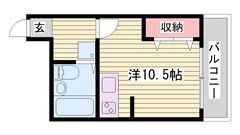人気のオール電化マンション☆ 広々ワンルームです!! 303の間取