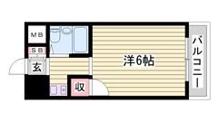 敷金・礼金0円初期費用抑えて入居可能できます!単身さんオススメです☆ 606の間取
