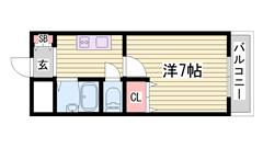 初期費用低額マンション☆安心のセキュリティシステム!内装キレイです♪ 504の間取