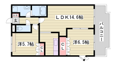 平松駅徒歩圏内 設備充実の重量感あふれるハイツ☆ ぜひご覧ください! 105の間取