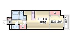 姫路駅徒歩スグ!オートロック付き都市ガスマンションです♪これは見逃せない! 606の間取