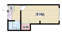 姫路駅徒歩圏内です♪♪ コンビニ目の前で立地良好です!! 4-2の間取
