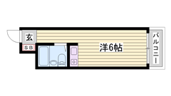敷金・礼金0円物件☆ 姫路駅徒歩圏内の便利な立地です♪♪ 408の間取
