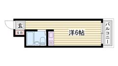 敷金・礼金0円物件☆ 姫路駅徒歩圏内の便利な立地です♪♪ 506の間取