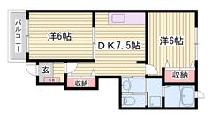 敷金0円 閑静な住宅地の中にあるお洒落な物件です☆ 設備充実!! 103の間取