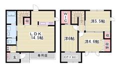 オール電化 駐車場2台分込み 1F南北専用庭 カウンターキッチン 2の間取