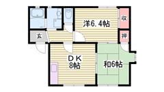 駐車場1台込み 専用庭付き 南向き 角部屋♪ 102の間取