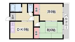 JR山陽本線宝殿駅まで徒歩圏内♪リフォーム済みの物件です☆ 2Fの間取