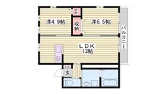 ネット無料☆★ ペット飼育OK♪ 2台目駐車場あり!! 202の間取