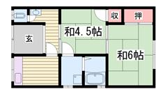 駐車場1台込み!西飾磨駅徒歩圏内です♪ 1の間取