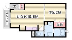 大手ハウスメーカー施工物件で設備充実です♪嬉しいエアコン1基付きです! 103の間取